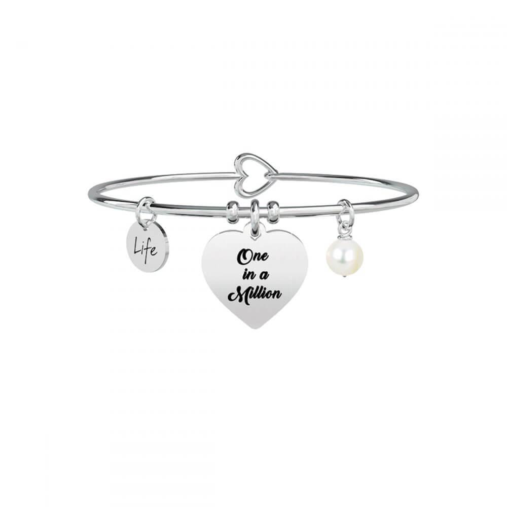 e3c0fd075e112f BRACCIALE KIDULT LIFE – LOVE – CUORE   ONE IN A MILLION – 731260   Zero  Gioielli