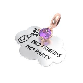 Charm RERUM - Amicizia - Ametista - No friends No party