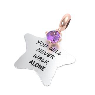 Charm RERUM - Amicizia - Ametista - You will never walk alone
