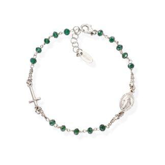 amen-BROBVB3-bracciale-rosario-cristalli-verde-bottiglia_3490_zoom