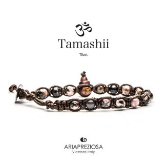 bracciale-tamashii-unisex-tibet-buddista-BHS601-181-tormalina-rosa
